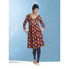 561cbfa459de du Milde kjole Almina Orange Shcok