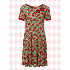 du Milde kjole Ninnas Poppies short sleeve